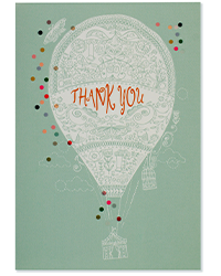 image of Up, Up and Away Boxed Thank You Cards