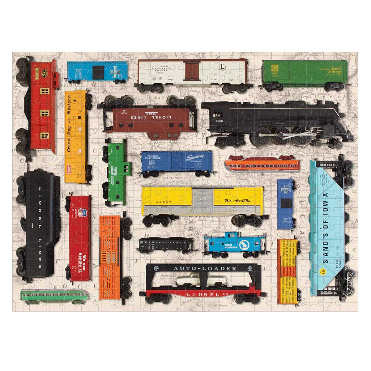 image of Vintage Toy Trains puzzle
