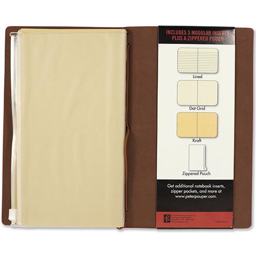 image of Voyager Burgandy Journal inside