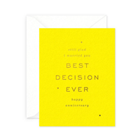 Image of Best Decision Ever Card
