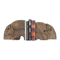 Image of Wood Wheel Cog Bookends with books