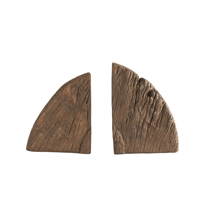 Image of Wood Wheel Cog Bookends
