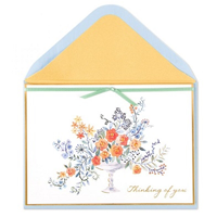 Image of Watercolor Flowers Card