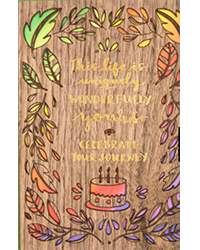 image of Wooden Celebrate Your Journey birthday card