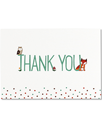 image of Woodland Friends -Boxed Thank You Cards