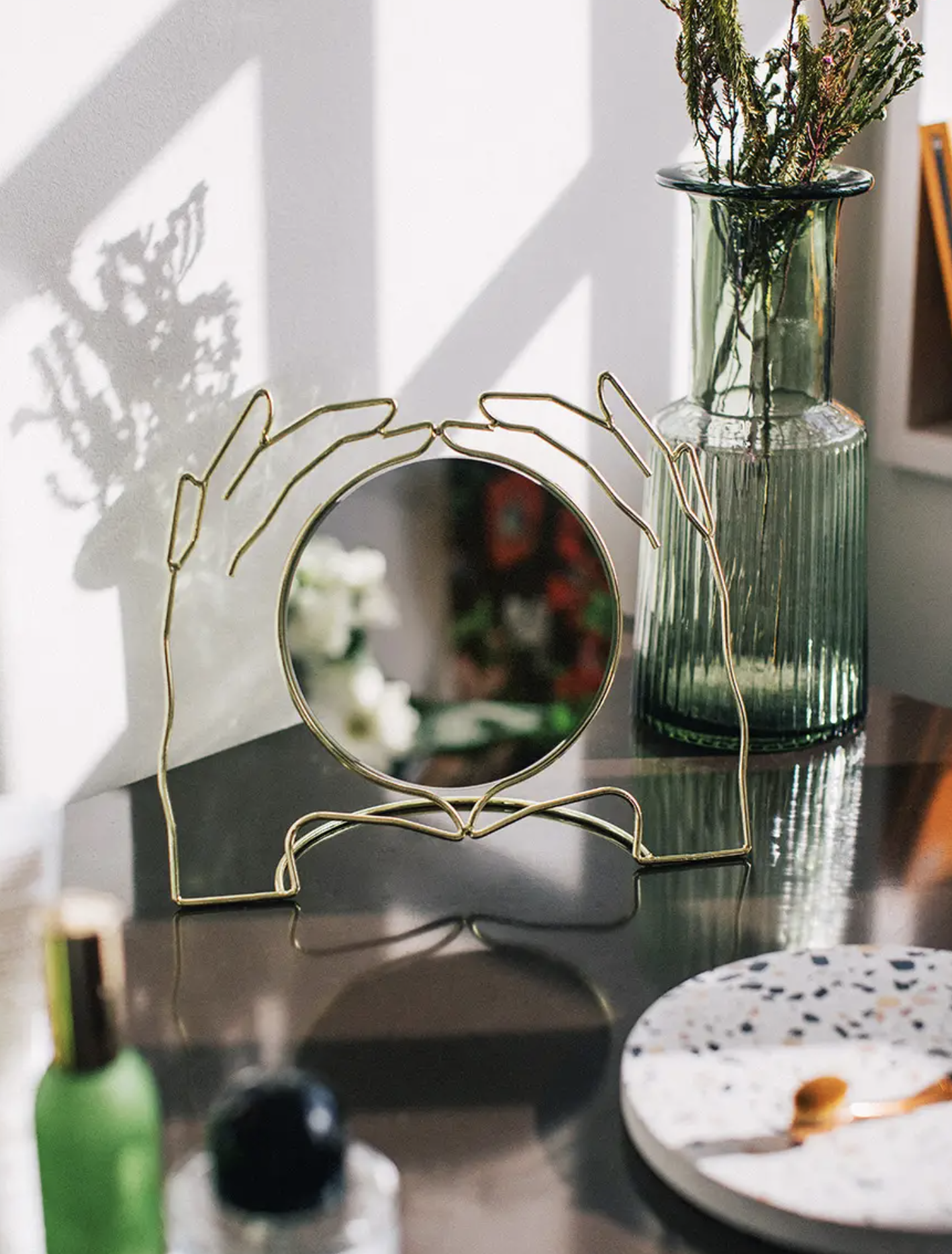Image of Xeria Table Mirror on table