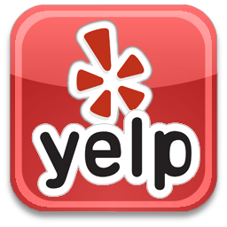 "Yelp Logo (red background with ""yelp"" in black letters"