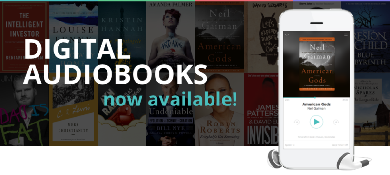 Digital Audiobooks now available banner
