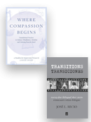 Image of book covers for Transitions and Where Compassion Begins