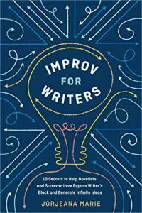Improv for writers by Jorjeana Marie (blue background with white text)