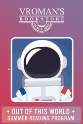 purple and red swirled background with an astronaut
