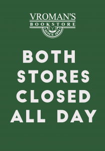 Both Stores Closed all day (green background with white letterig)