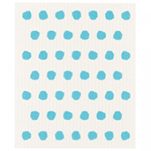 image of dishcloth - white with turquoise spots