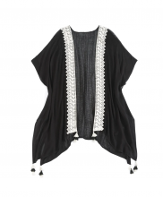 Image of Image of Black Fia Cover-Up Kimono