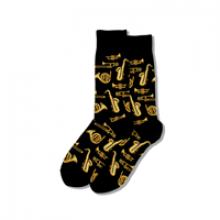 Image of Black Jazz Instruments Men's Crew Socks