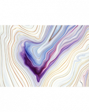 Image of Blue Agate on cream colored notecard