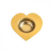 Image of Brass Heart Tea Strainer