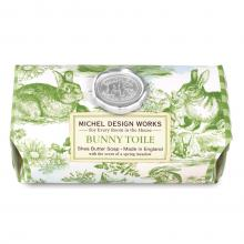 Image of Bunny Toile Large Bath Soap Bar