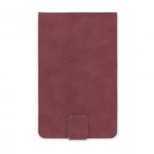 image of Burgundy Vegan Leatherette Notepad