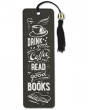 image of Coffee & Books Beaded Bookmark