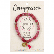 Image of Pink Compassion Kantha Connection Bracelet