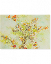 Image of a bunch of Dogwood Blossoms on notecard