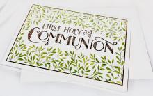 Image of Greeting Card with First Holy Communion lettering