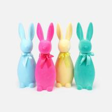 Image of Flocked Button Nose Bunny, Large