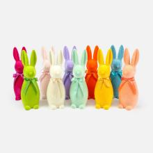 Image of Flocked Button Nose Bunny, Medium Size