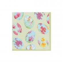 Image of Floral Decorated Eggs Cocktail Napkins