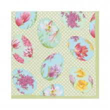 Image of Floral Decorated Eggs Luncheon Napkins