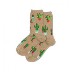 Image of Hemp Potted Cactus Women's Crew Socks