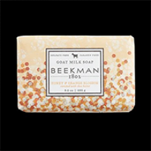 image of Honey & Orange blossom Bar Soap with orange paper wrapping