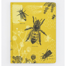 image of Honey Bees Hardcover Lined/Grid Journal front