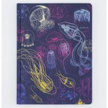 image of Jellyfish Hardcover Dot Grid Journal front