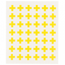 image of dishcloth - white with yellow spots
