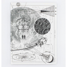 image of Moon Landing Hardcover Dot Grid Journal front