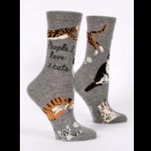 Image of People I Love: Cats Women's Crew Socks