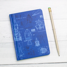 image of Rocketry Mini Hardcover Dot Grid Journal cover