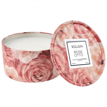 Rose Otto Tin Candle