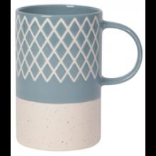 Image of Slate Blue Etched Mug