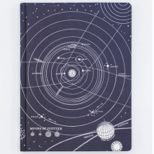 image of Solar System Hardcover Lined/Grid Journal front