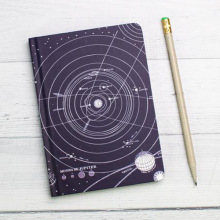 image of Solar System Mini Hardcover Dot Grid Journal cover