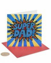 Image of greeting card with SUPER DAD! on the front