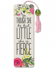 image of Though She Be But Little Beaded Bookmark