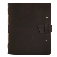 image of Traveler Leather Journal, Dark Brown