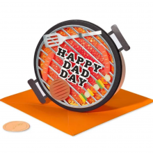 Image of 3D BBQ Grill greeting card