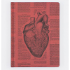 image of Anatomical Heart Hardcover Lined Journal front