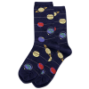 Image of Glow Solar System Navy Women's Crew Socks