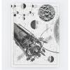 image of Moon Landing Hardcover Dot Grid Journal back